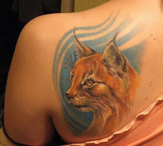 amazing and realistic 3d cat tattoos. Black Bedroom Furniture Sets. Home Design Ideas