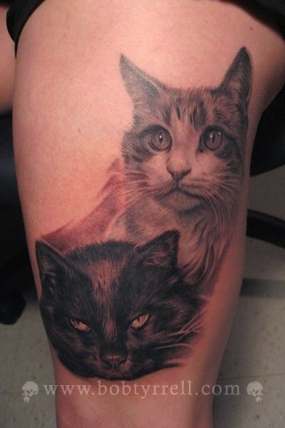 Realistic Cats Tattoo